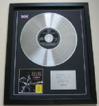 ELVIS PRESLEY - In Person at the International CD / PLATINUM PRESENTATION DISC